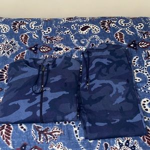 Blue Camouflage Polo Sweatsuit XL